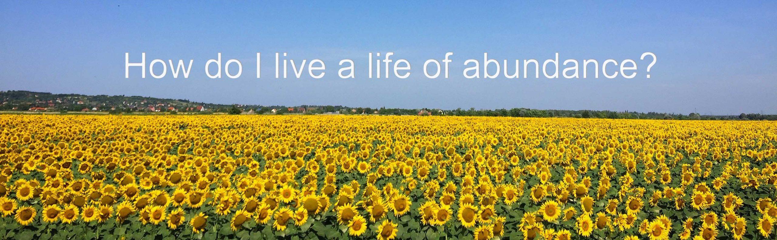 How Do I Life a Life of Abundance